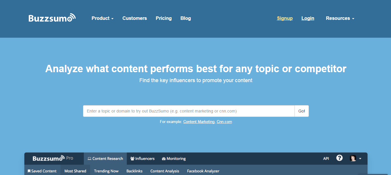 alphagamma 22 best content marketing platforms entrepreneurship opportunities buzzsumo