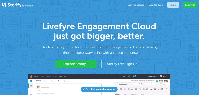 alphagamma 22 best content marketing platforms entrepreneurship opportunities storify